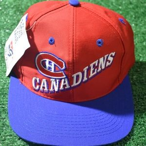 Vintage NHL Canadiens Strapback hat new with tags